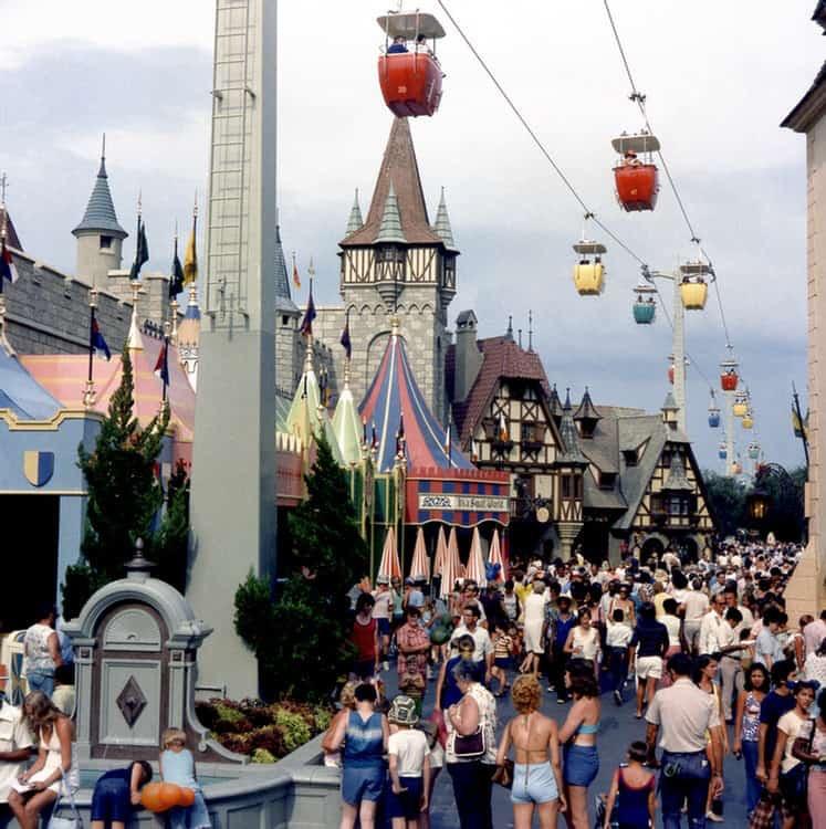 The original Magic Kingdom Skyway