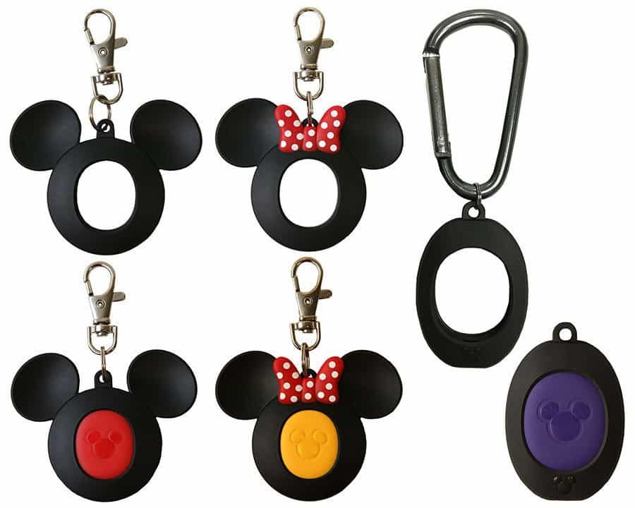 The full initial line of MagicKeepers accessories for the MagicBand 2