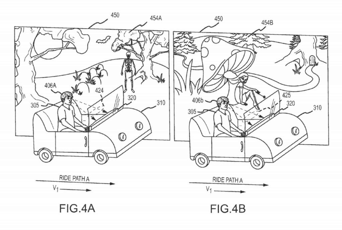 Patent for ride controlled by a guest's emotions.