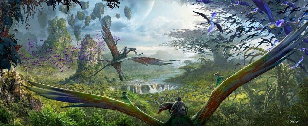Concept Art for Flight of Passage attraction, Pandora: the World of AVATAR at Disney's Animal Kingdom theme park