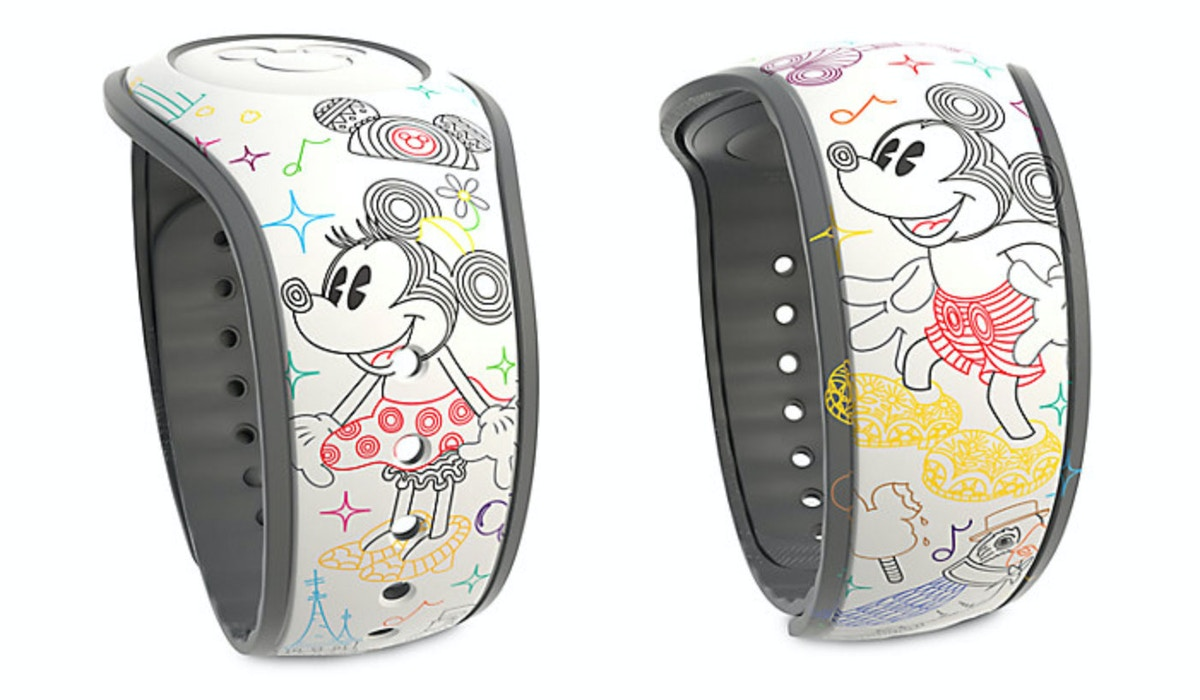 Mickey and Minnie Mouse ''A Walk in the Park'' MagicBand 2 by Dooney & Bourke - Limited Release