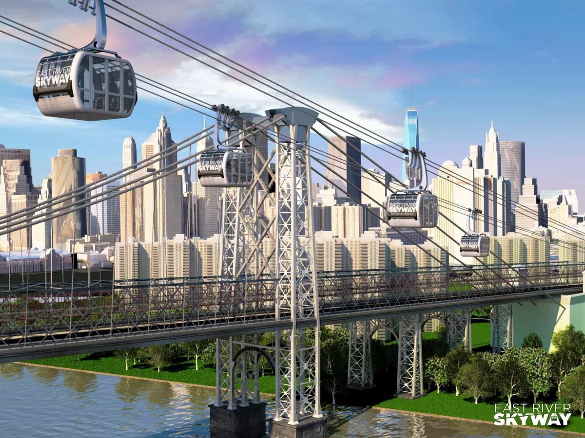 If you think Skyway systems are out of date, think again. New York City still utilizes such a system to and from Roosevelt Island and has proposed an additional system for the future, seen here.