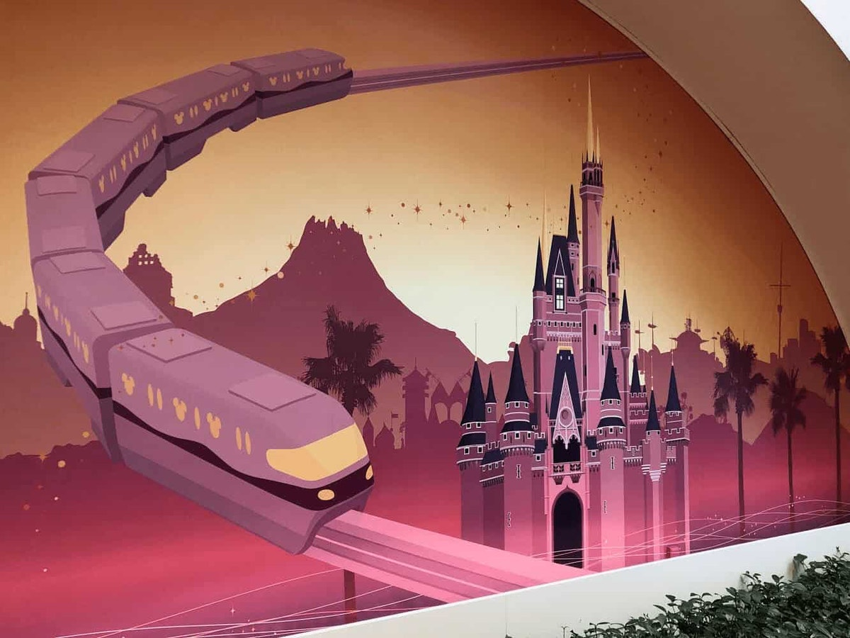Tokyo Disney Resort Gateway Station Mural by Joshua Meyer