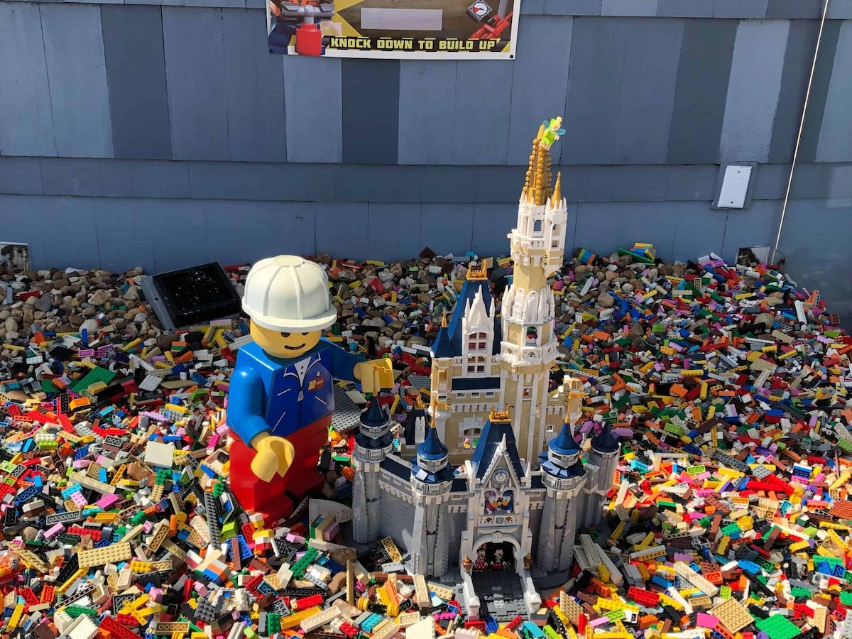 Coming Soon LEGO Display outside the store