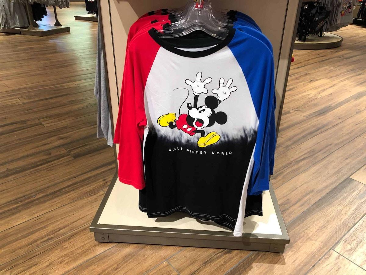 Colorful Mickey Walt Disney World Tops