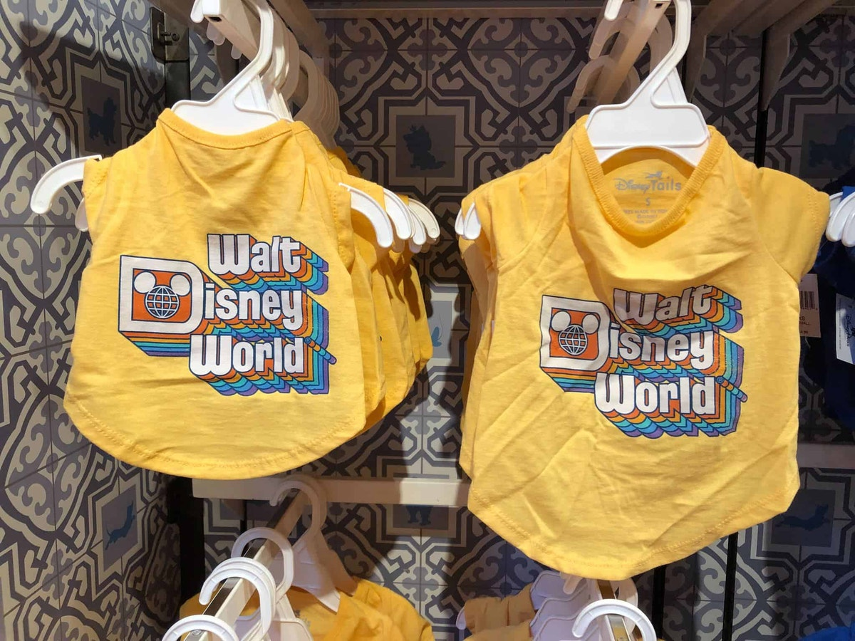 Walt Disney World Retro Rainbow Lettering, Yellow Top