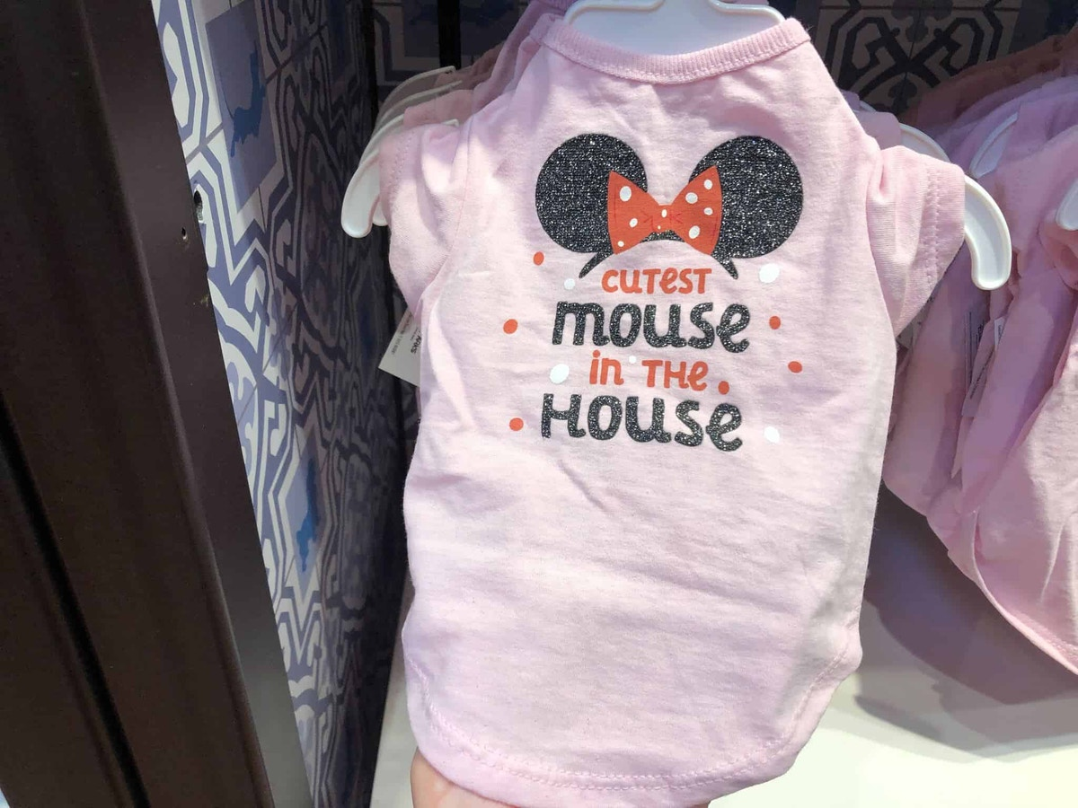 Cutest Mouse in the House pink pet shirt with Minnie ears