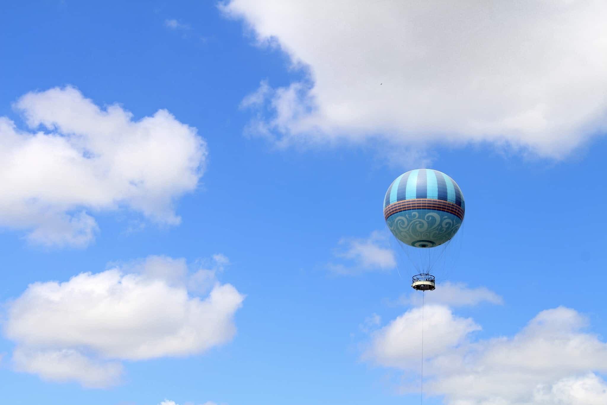 Disney Springs characters in flight