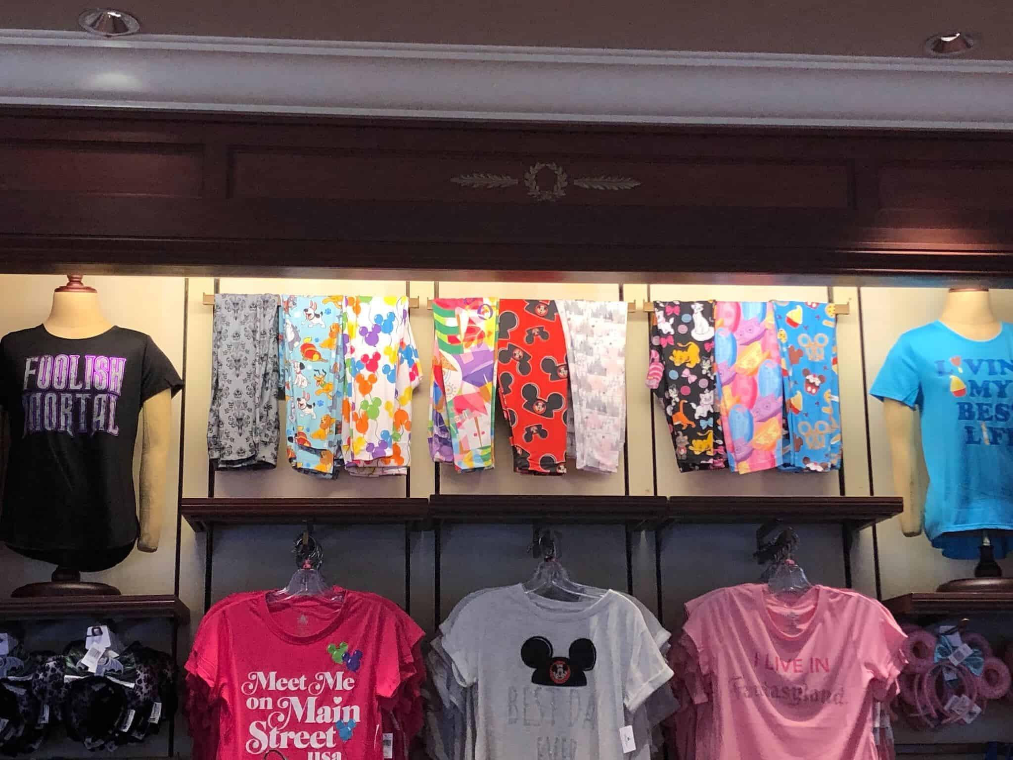 Disney Leggings on Display