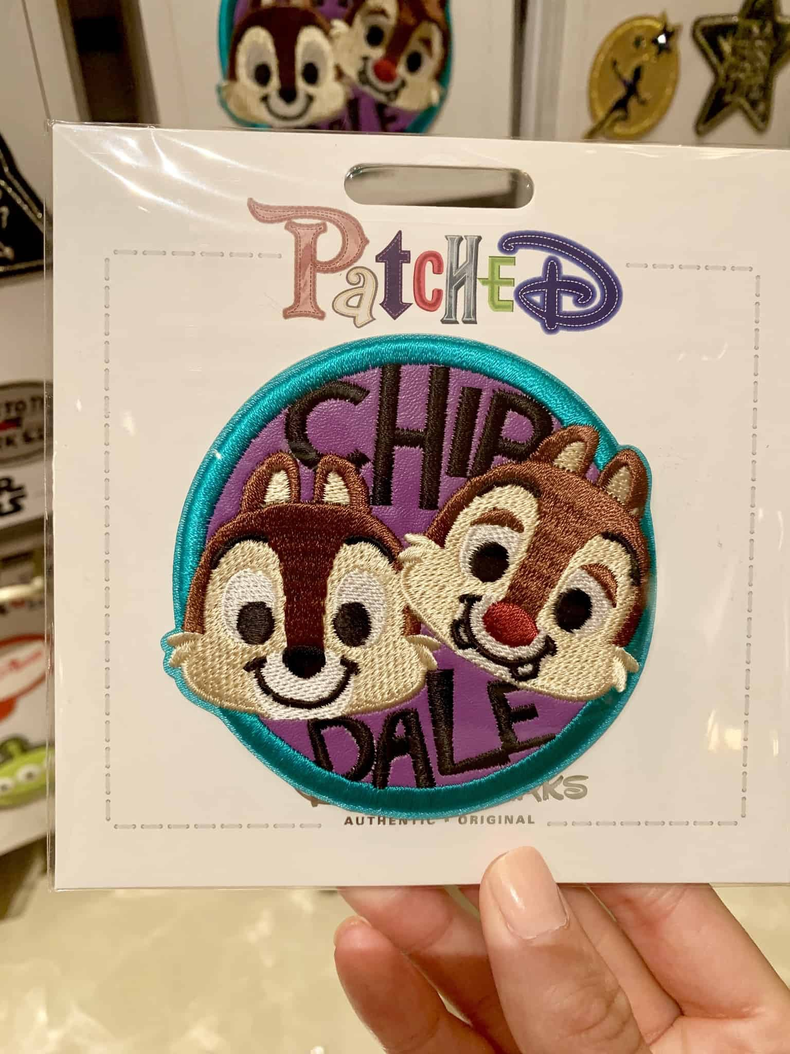 Mickey Mouse Balloon and Chip and Dale PatcheD patches Disneyland Resort