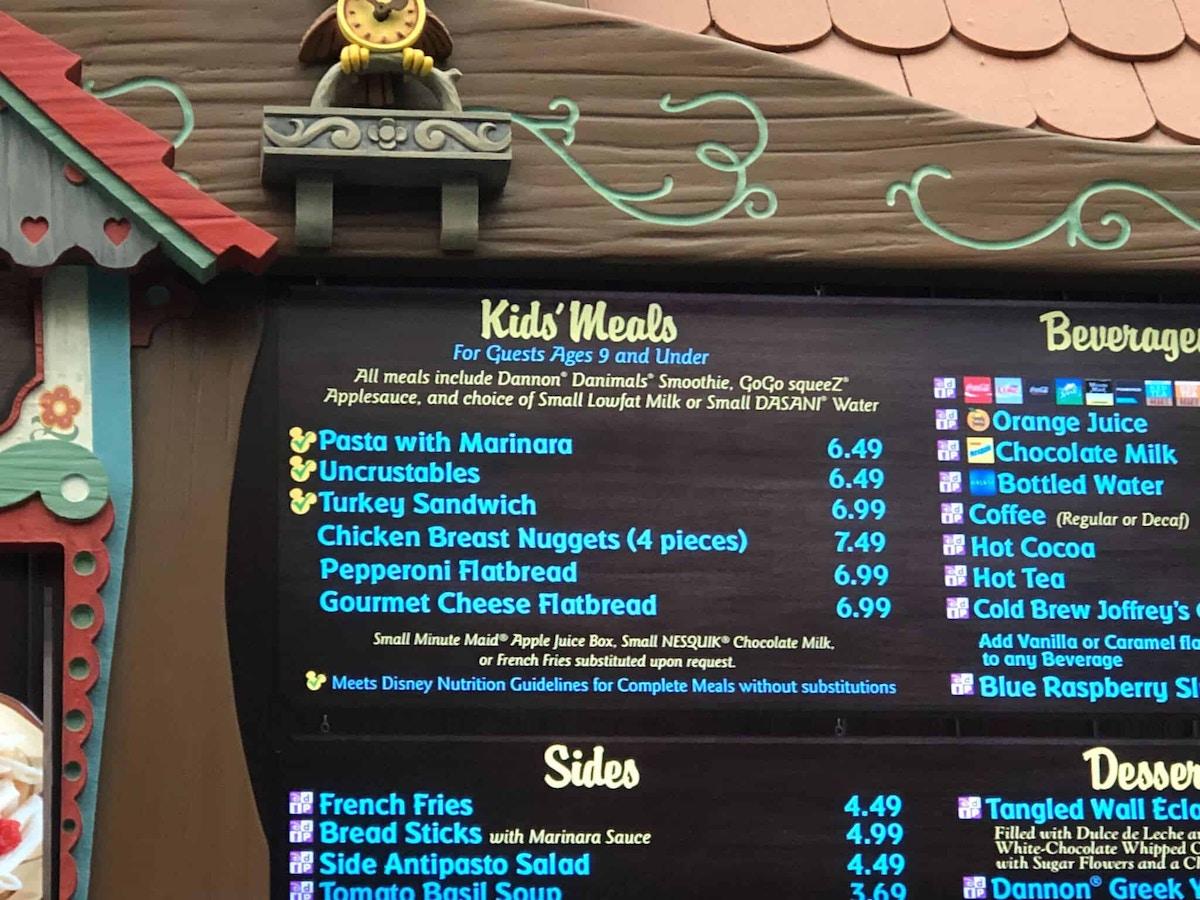 Turkey Sandwich on the Kid's Menu at Pinocchio Village Haus