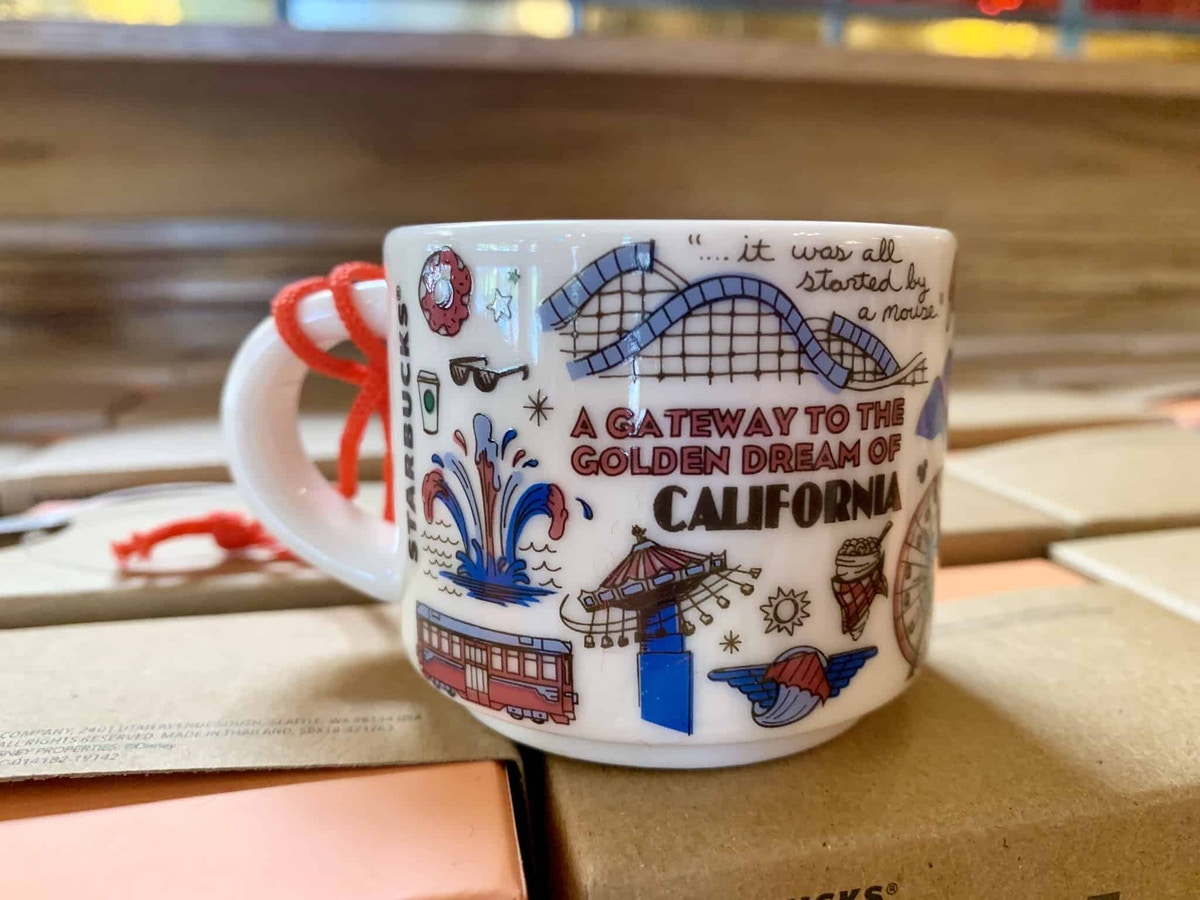 "Starbucks ""Been There"" Mug Ornament Disneyland and Disney California Adventure"