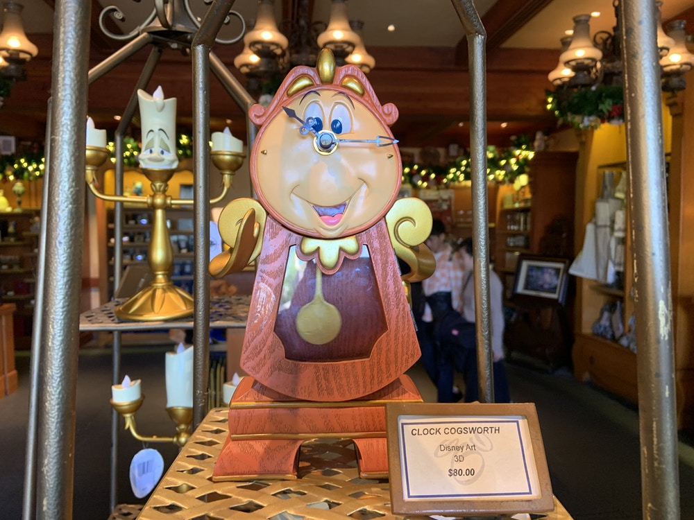 Cogsworth statue 1/1/20