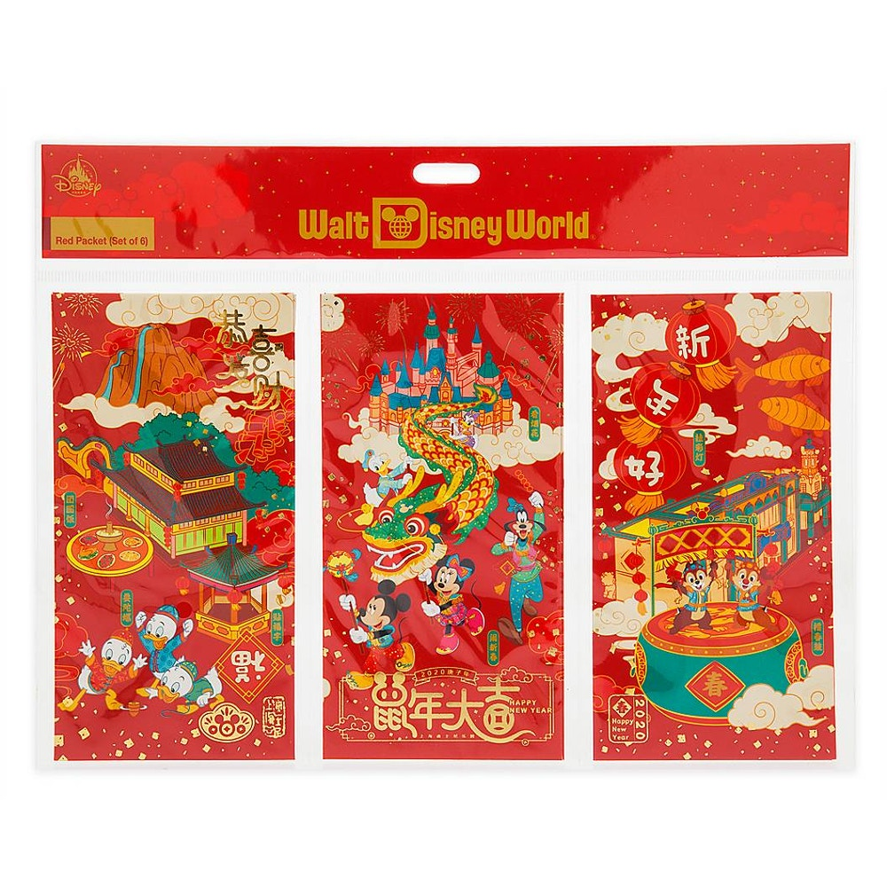 Mickey Mouse and Friends Lunar New Year 2020 Red Packet Envelopes – Walt Disney World - $9.99