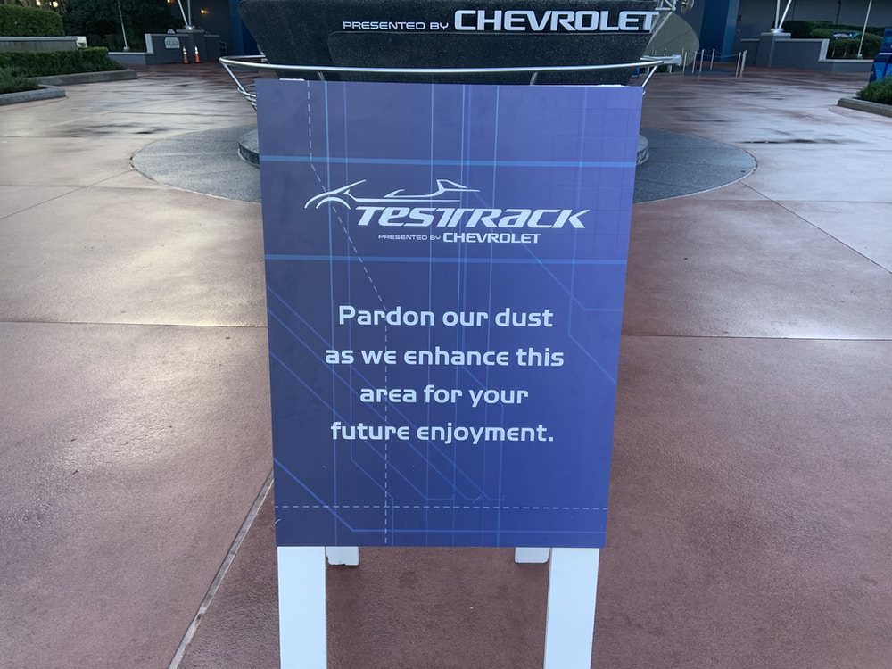 Test Track closed 1/13/20 2