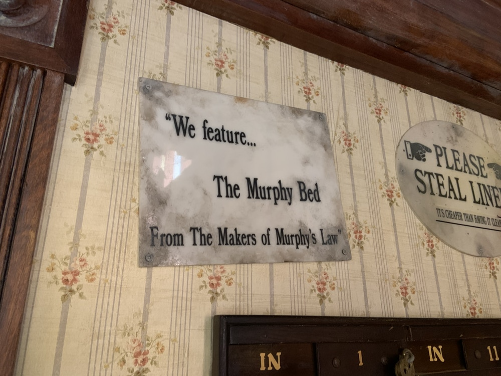 Murphy bed sign 1/22/20