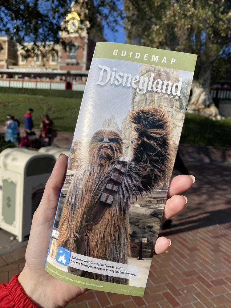 disneyland guide map