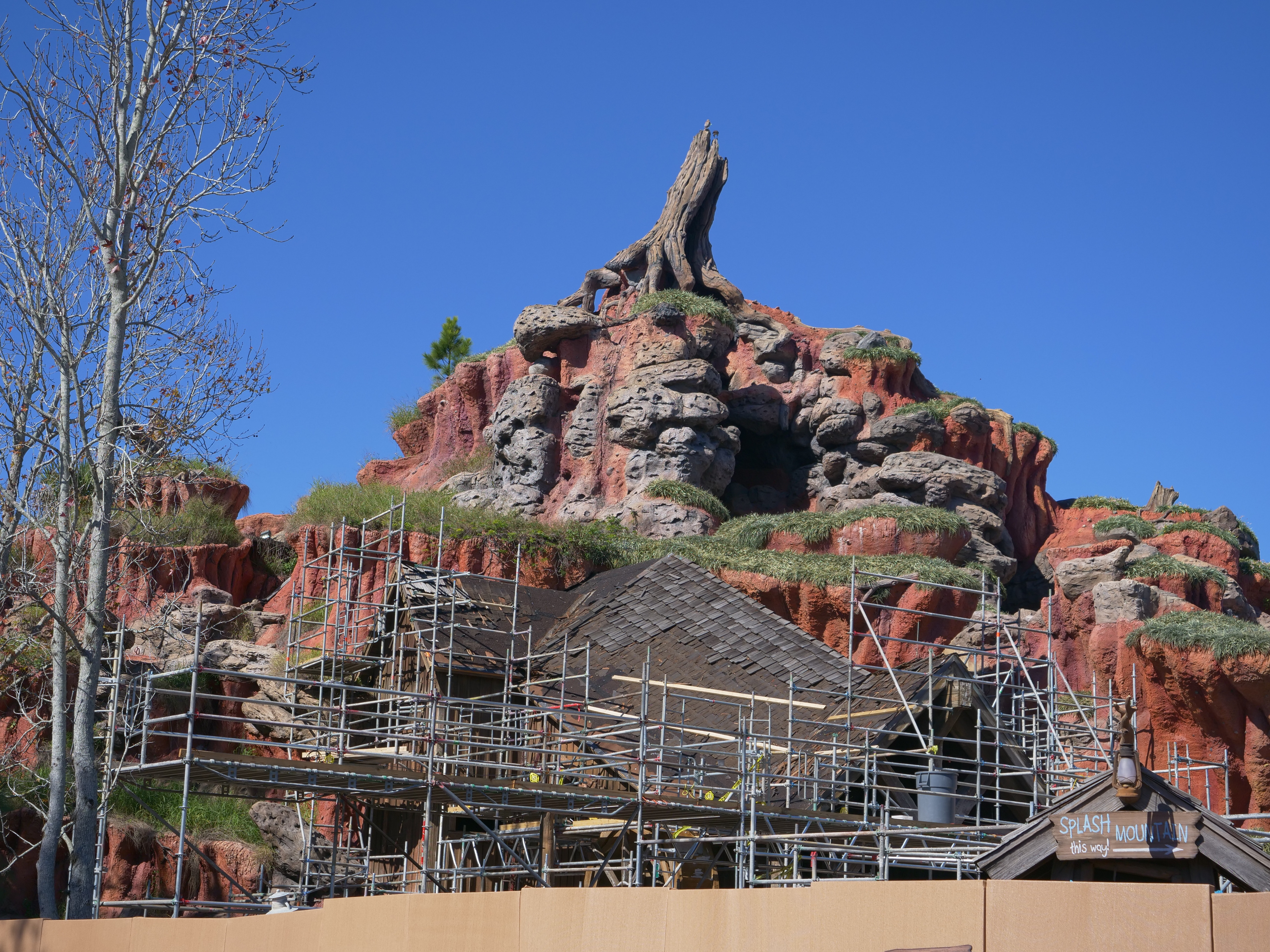 Scaffolding Around Splash Mountain