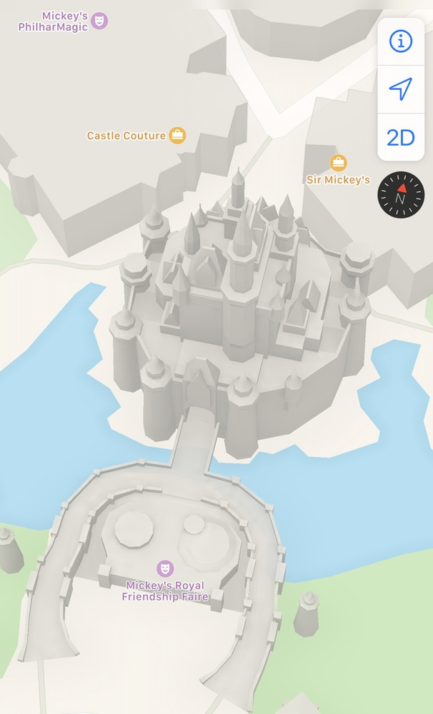 apple maps casatle