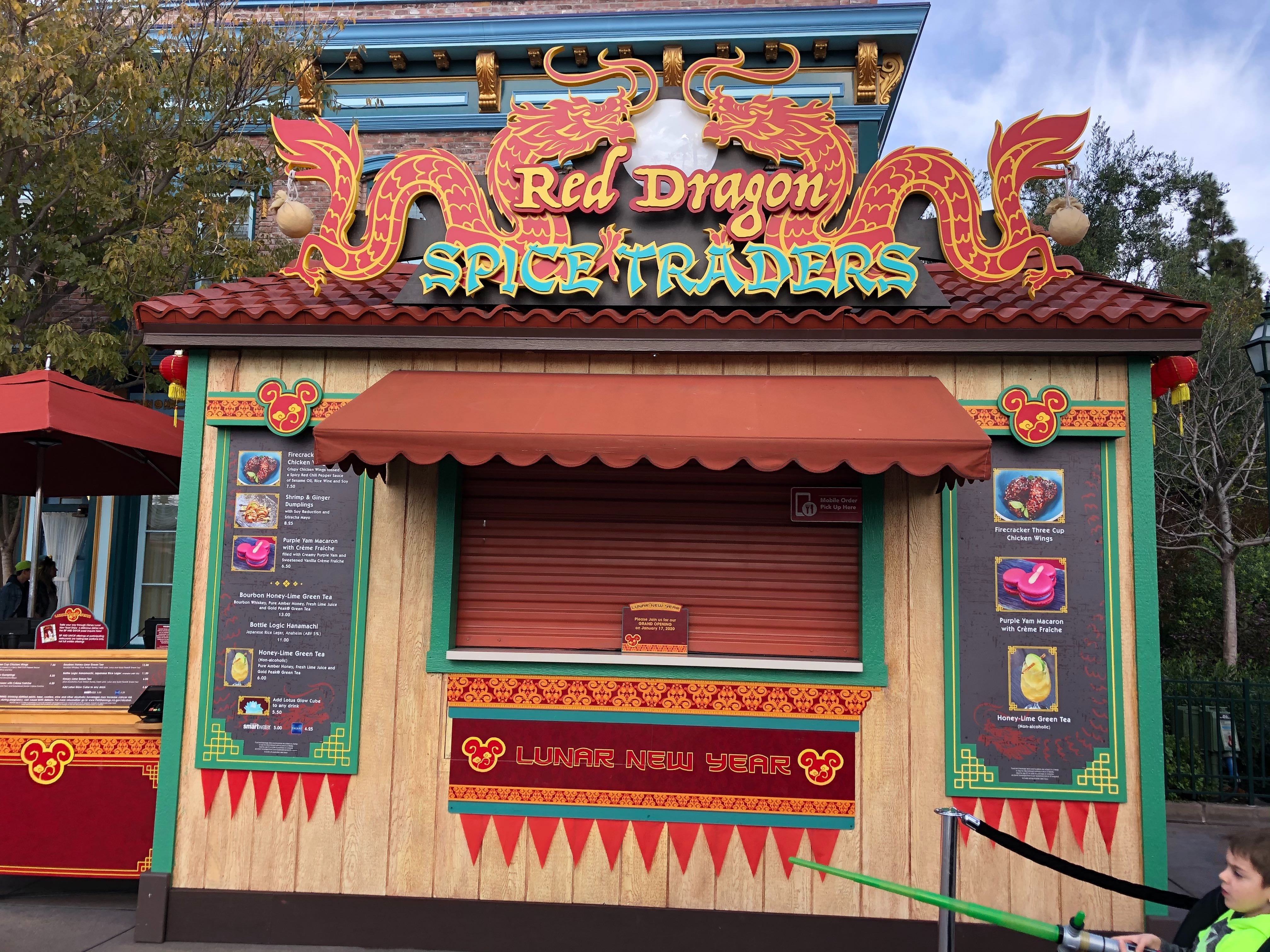 Red Dragon Spice Traders at Disney California Adventure for Lunar New Year 2020
