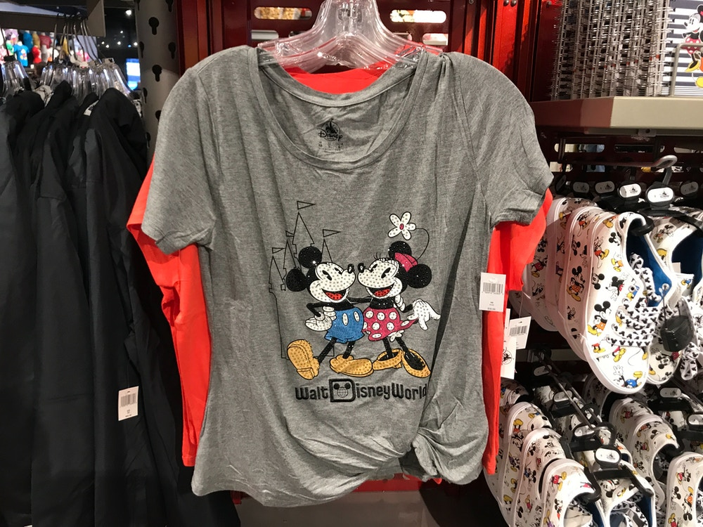 mickey and minnie women's top