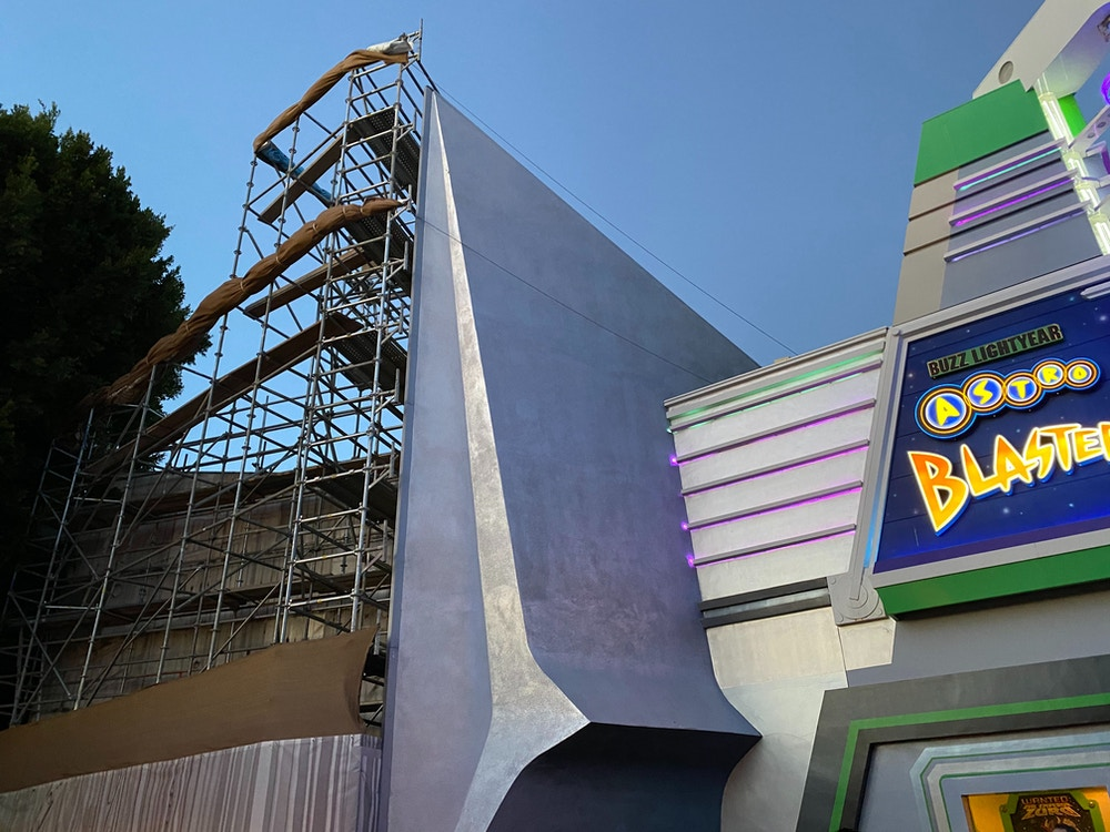 Tomorrowland Entrance Wall is Revealed after Construction in Disneyland Park