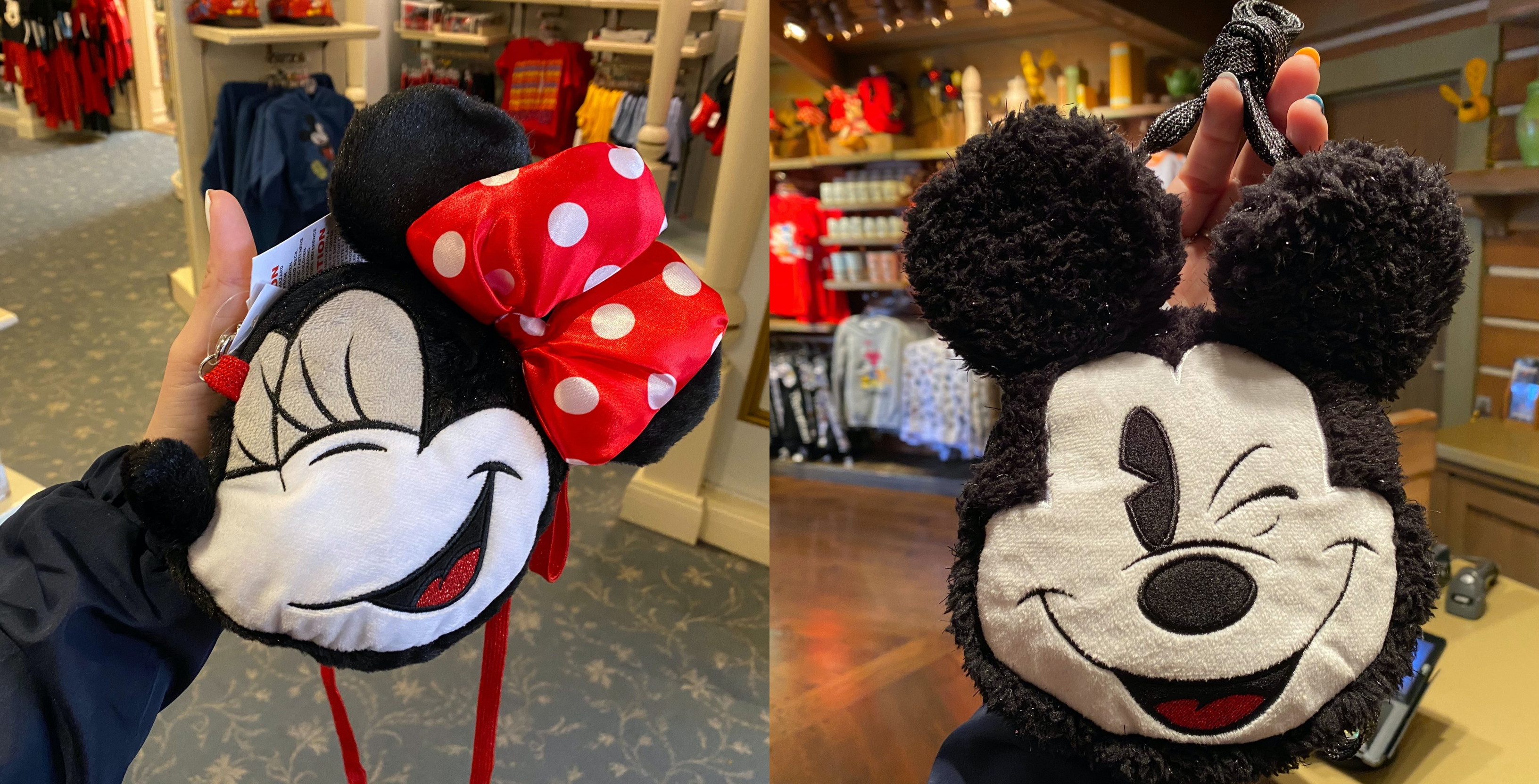 mickey and minnie wristlets