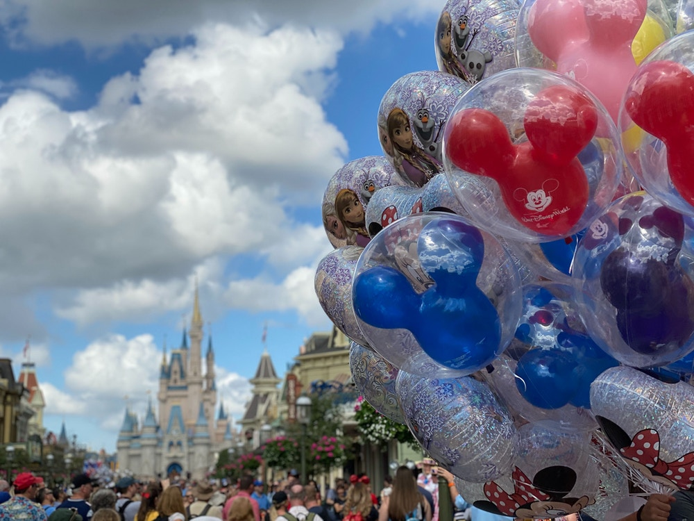 cinderella castle balloons