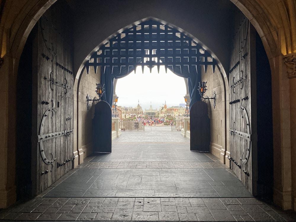 Cinderella castle arch main street
