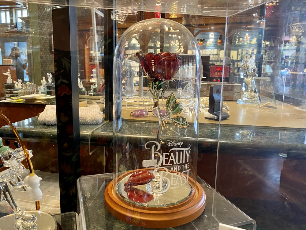Beauty and the beast glass rose