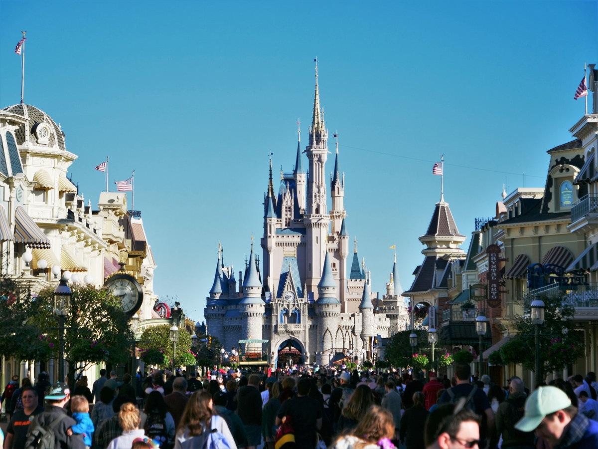 Cinderella Castle from Main Street
