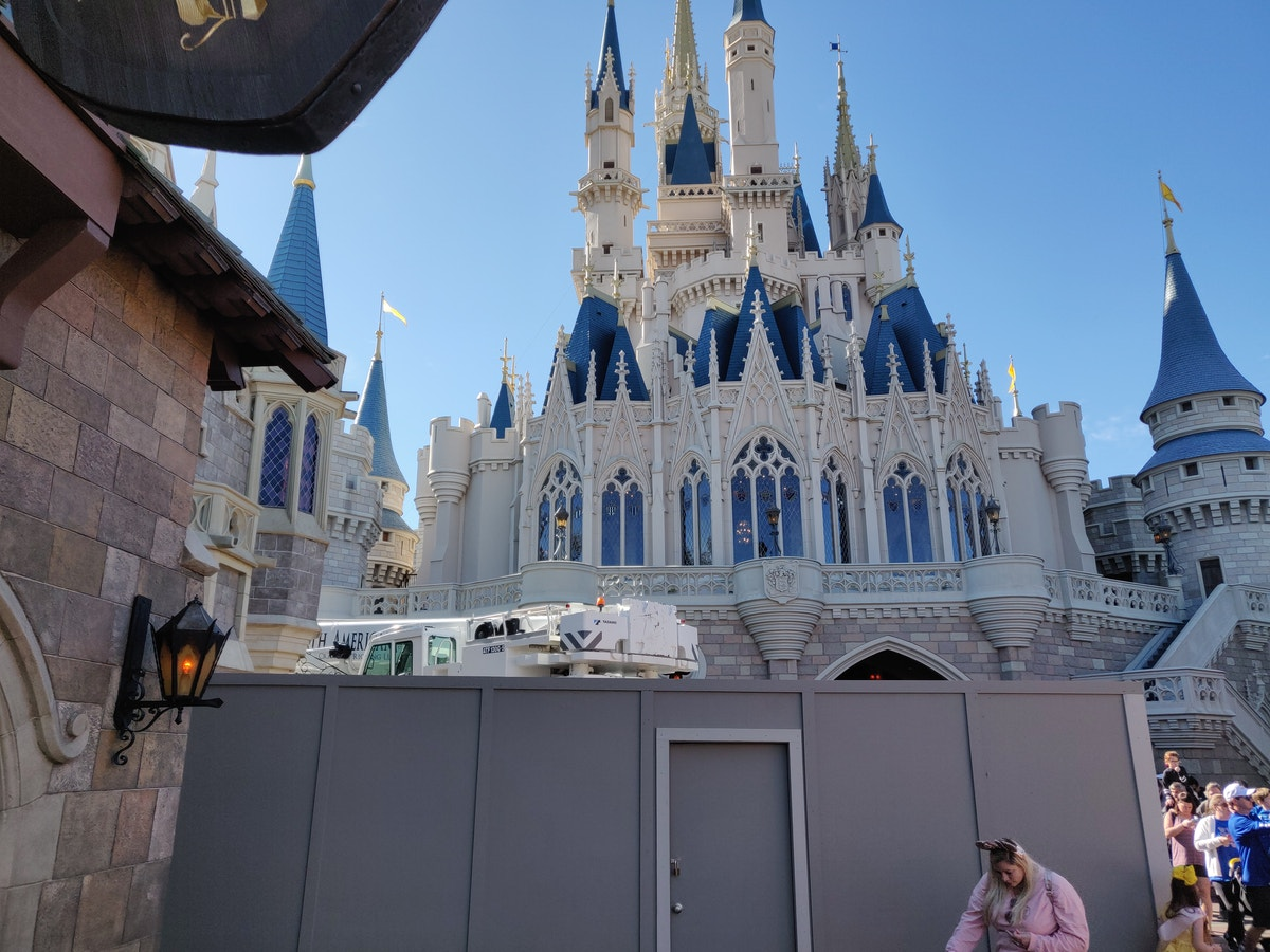 Cinderella Castle Backside Walls