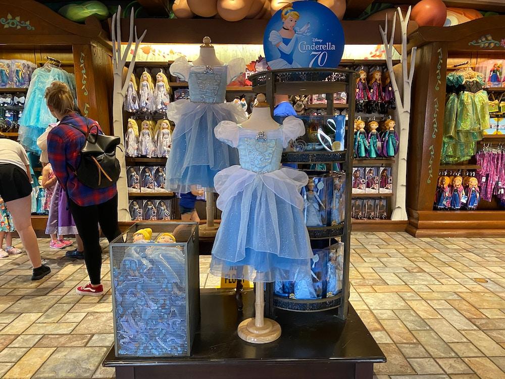 cinderella 70 anniversary display