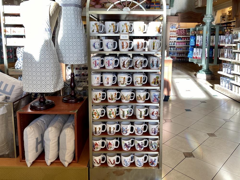 Disney alphabet mugs