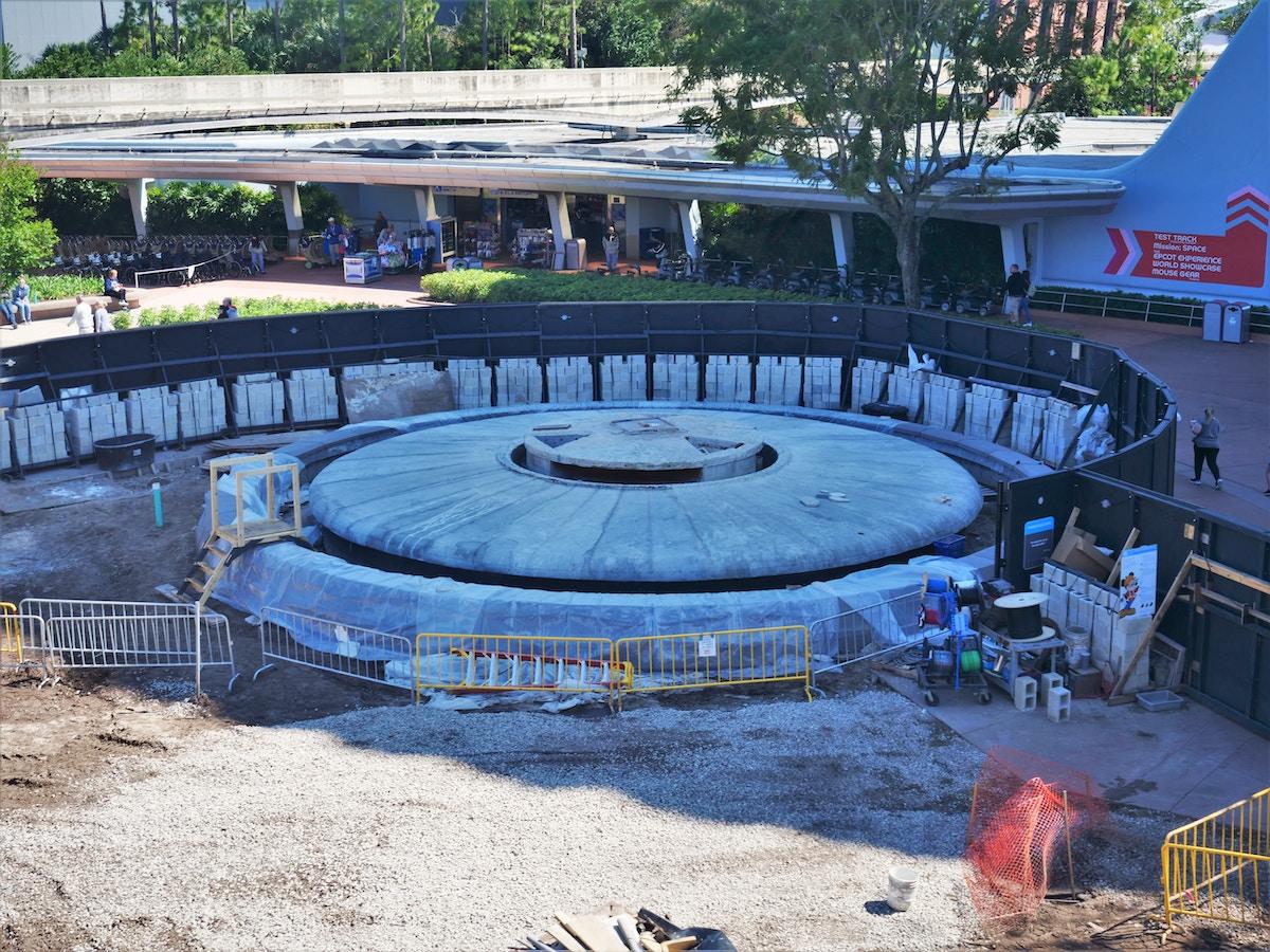 Entrance Fountain Construction