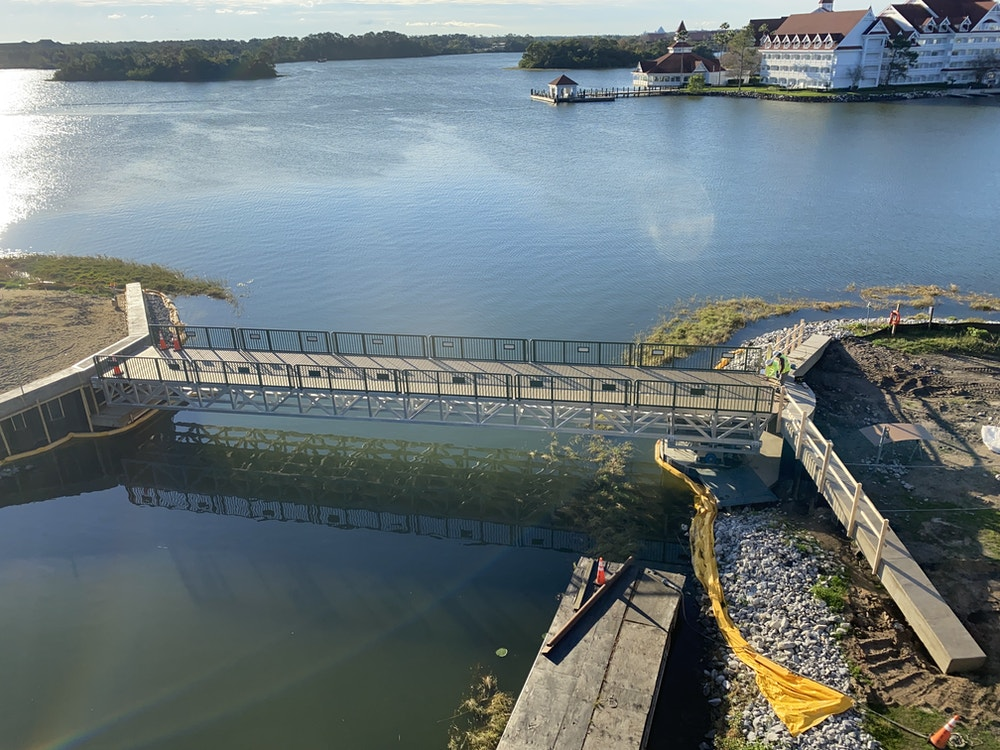 Grand Floridian bridge closed