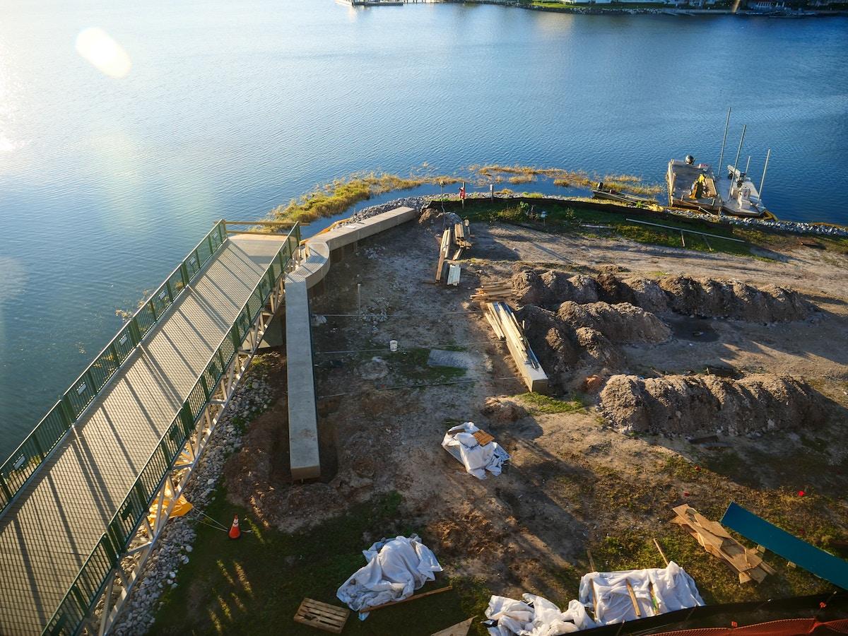 Grand Floridian Walkway Construction