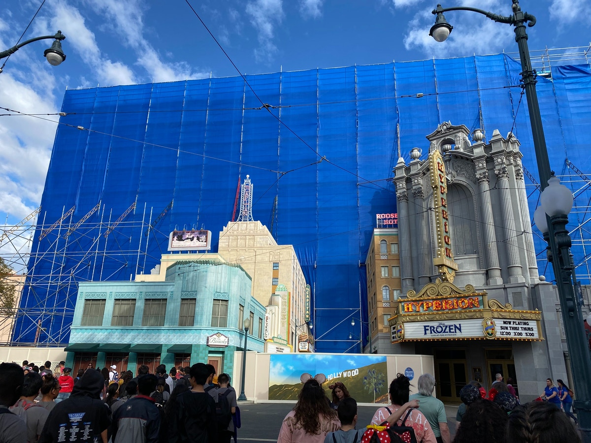 Hollywood Land Sky Backdrop Repainting