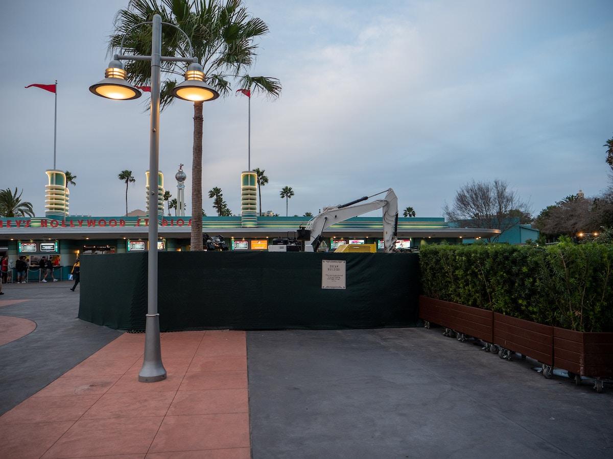Hollywood Studios Entry Construction