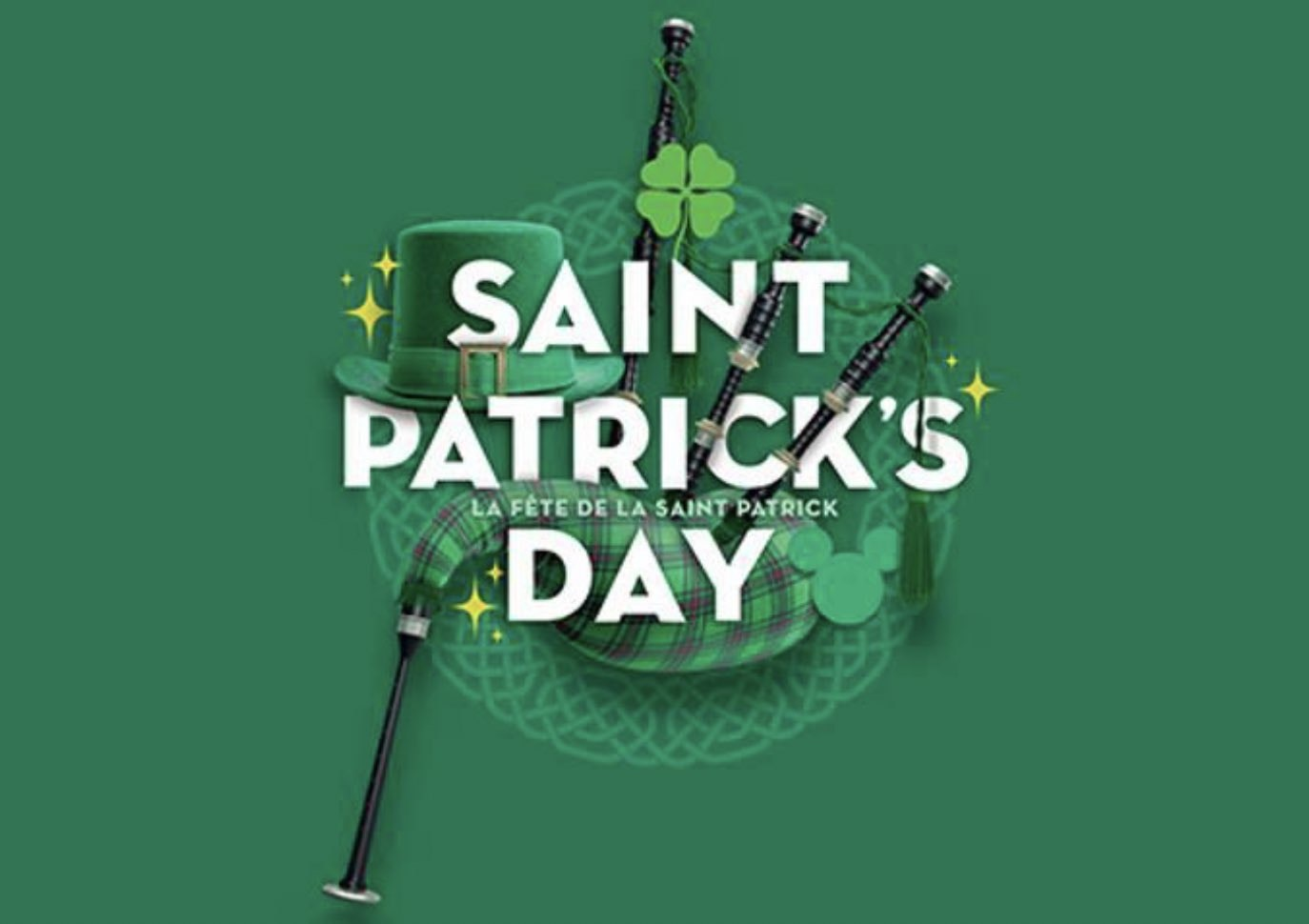 St. Patrick's Day Disneyland Paris Logo