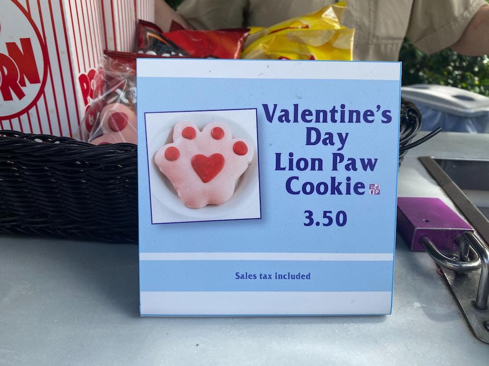 valentines day cookie lion paw animal kingdom