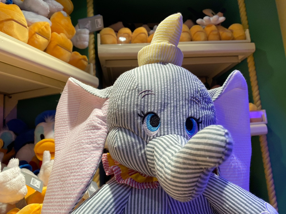 dumbo pinstripe plush