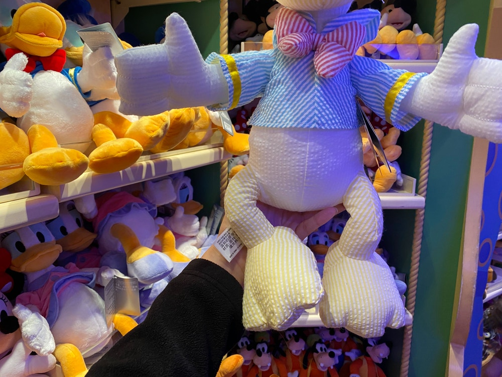 donald pinstripe plush