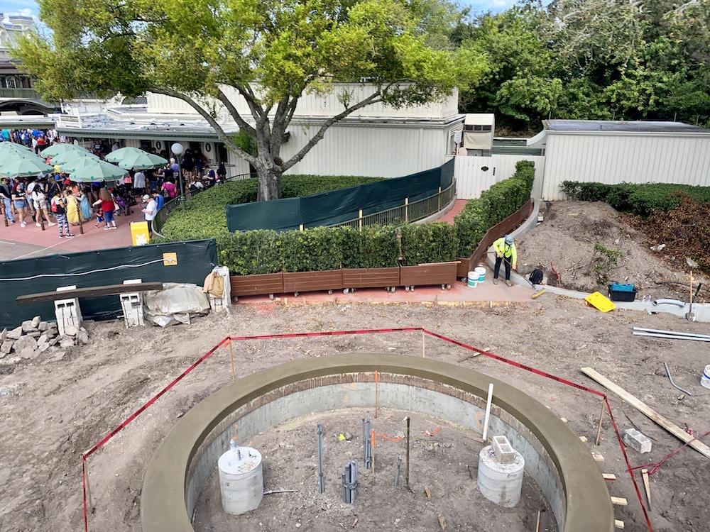 Magic kingdom entrance construction