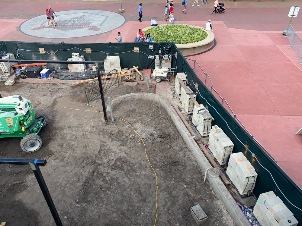 magic kingdom entrance construction center