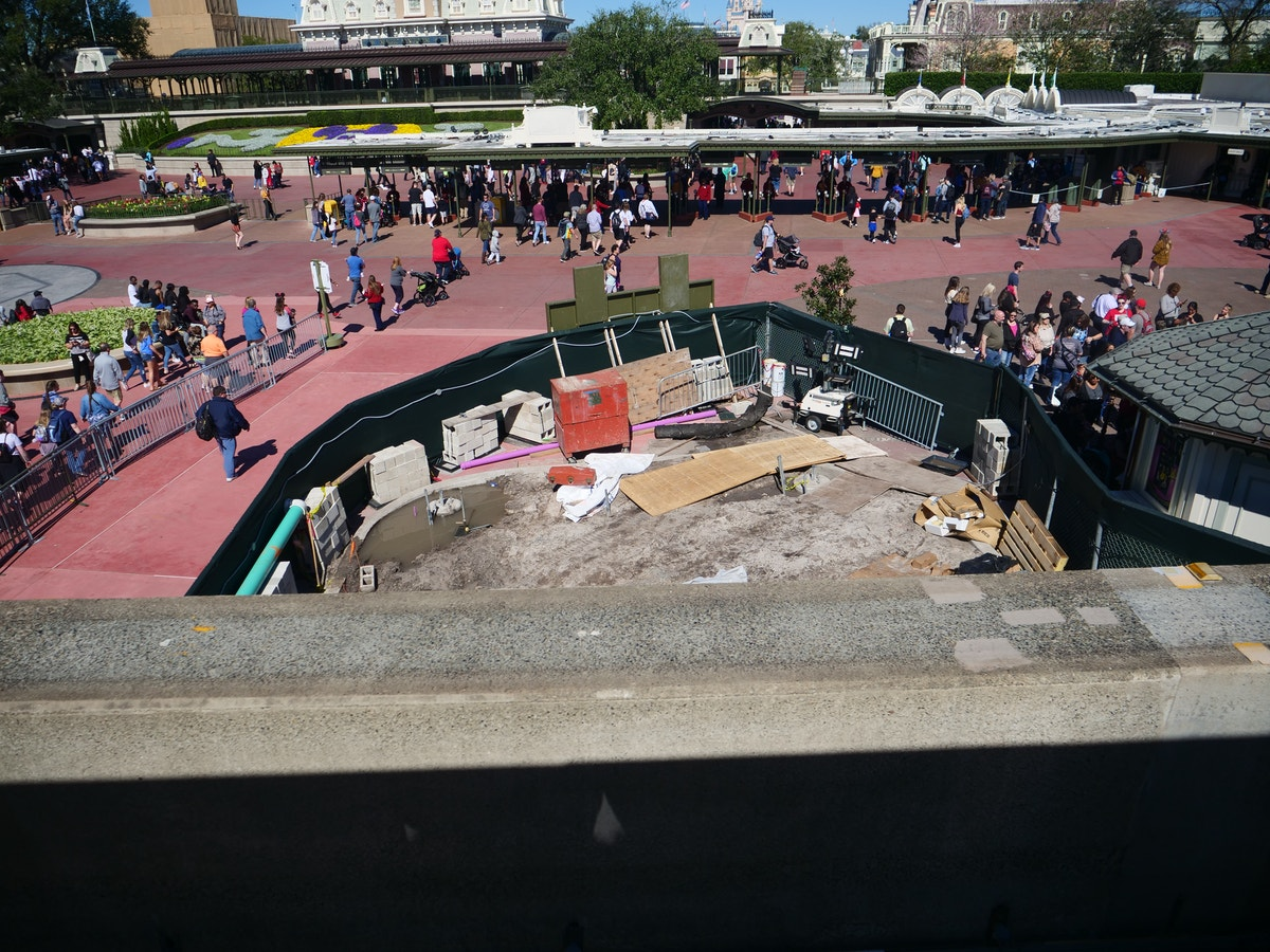 Magic Kingdom Entrance Construction