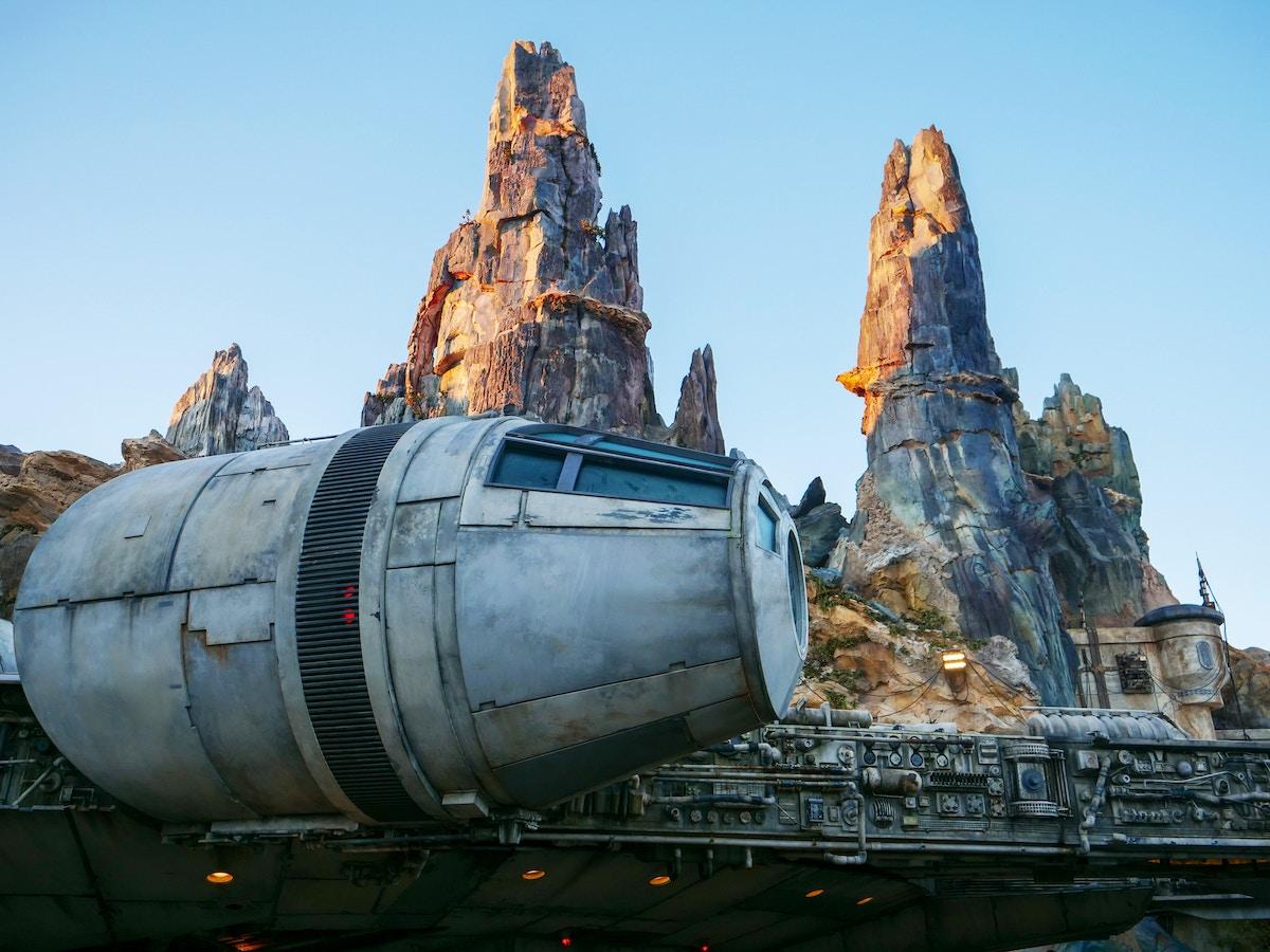 Millennium Falcon in Front of Spires