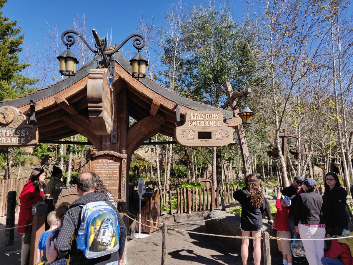 Seven Dwarfs Mine Train Temporarily Closed