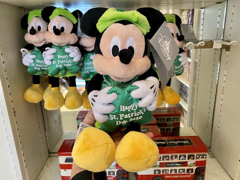 St Patrick's day mickey plush