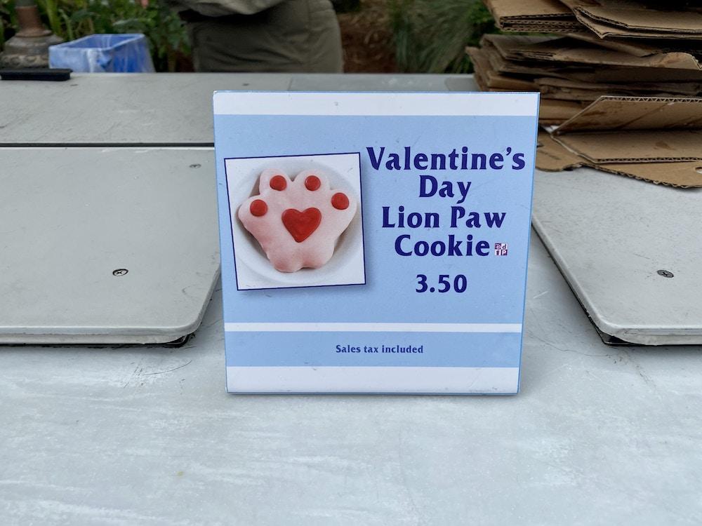 Valentine's Day lion paw cookie